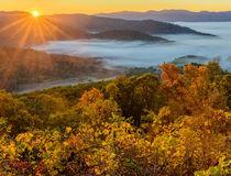 Harbststimmung am Blue Ridge Parkway, North Carolina © Christian Heeb