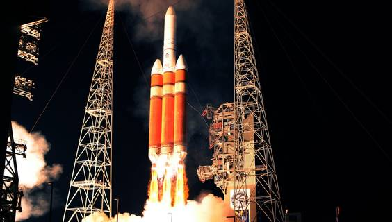 Eine Delta 4-Rakete beim Start.  © Kennedy Space Center