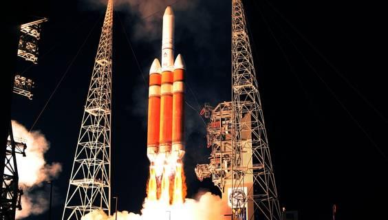 Eine Delta 4-Rakete beim Start.  © Kennedy Space Center