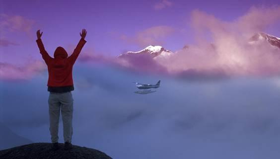 Buschflugzeug%20am%20Salmon%20Glacier%20bei%20Hyder © Christian%20Heeb